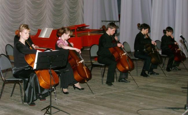 Отчетный концерт школы. 2010 год