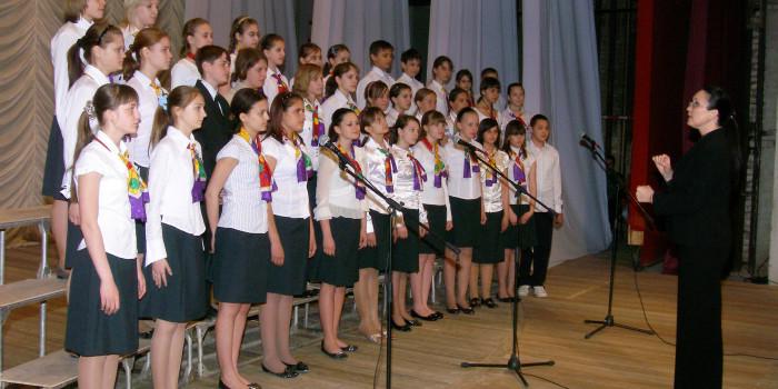 Отчетный концерт школы. 2009 год