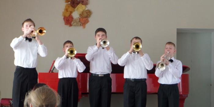 Городской концерт духовиков в ДМШ 1 г.Волжского.